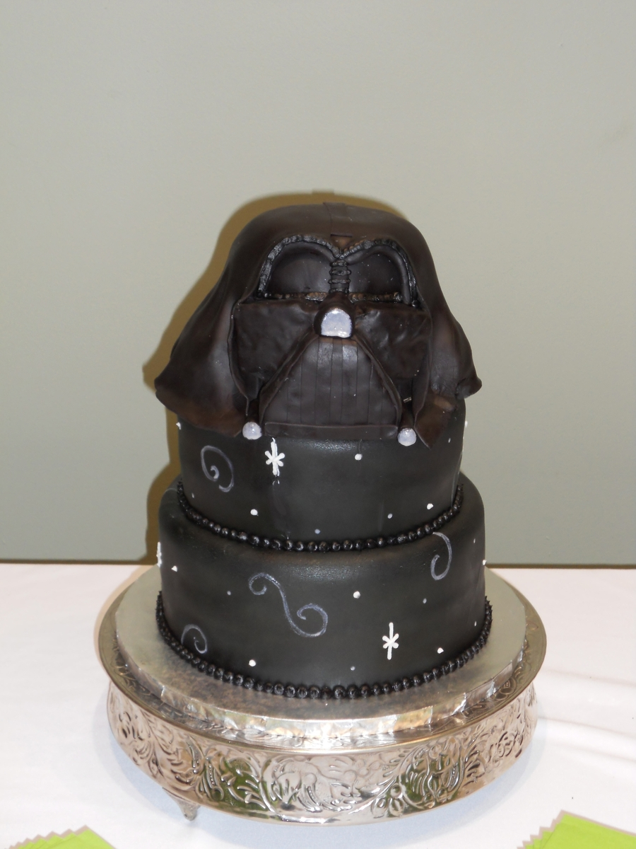 Darth Vader Groom's Cake  on Cake Central