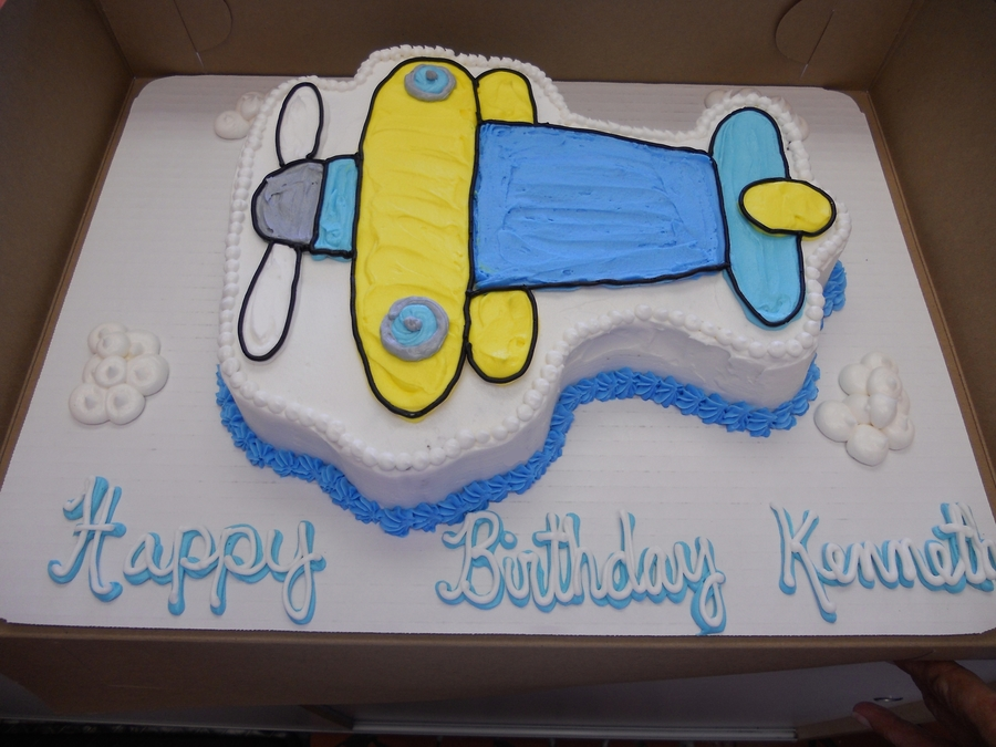 2D Airplane Cake on Cake Central