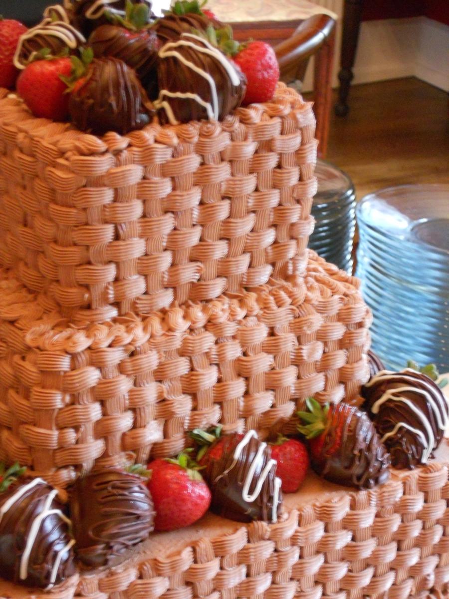 Choc Basketweave Cake Cakecentral Com