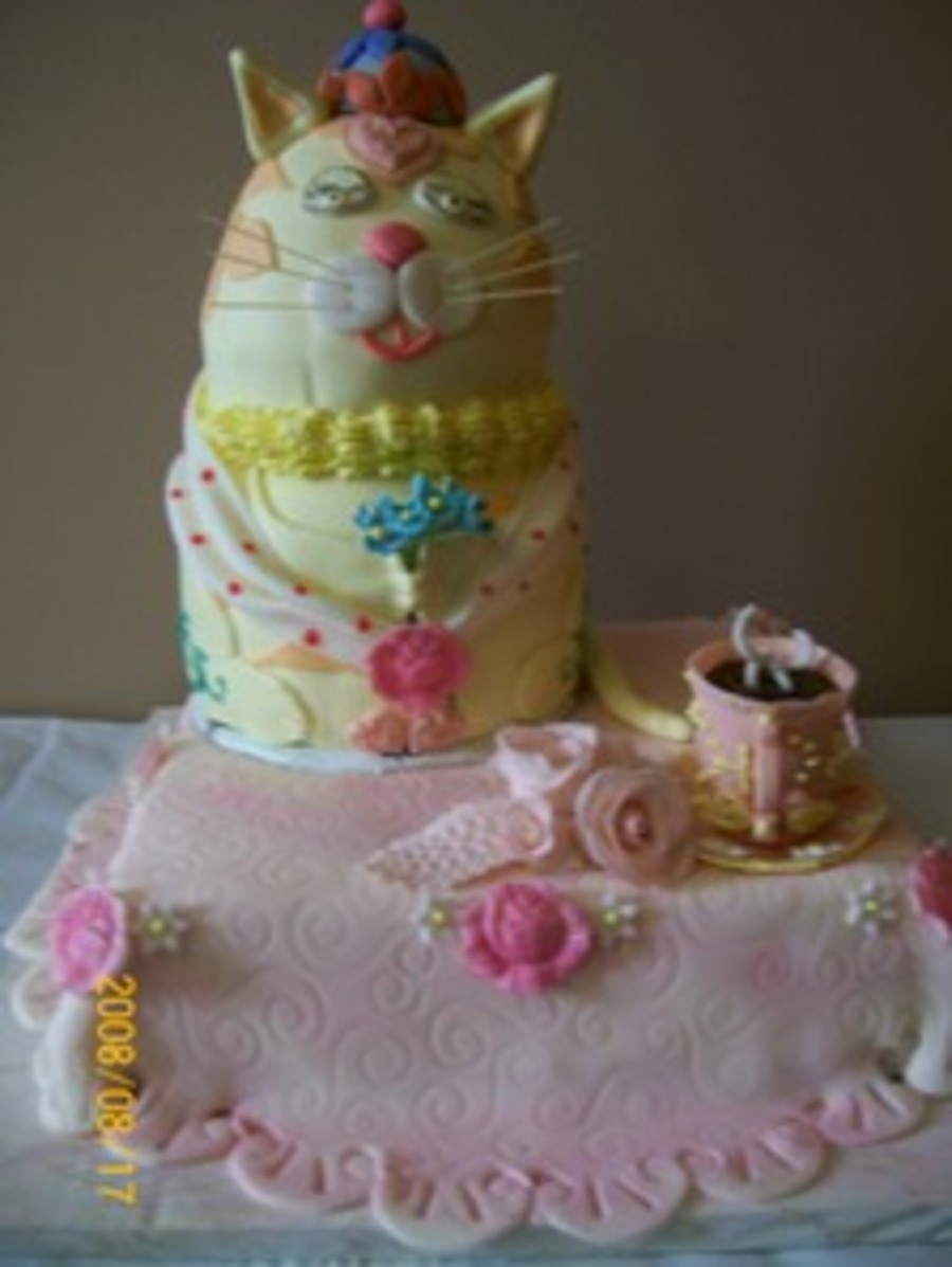 Mrs. Catty Tea Time on Cake Central