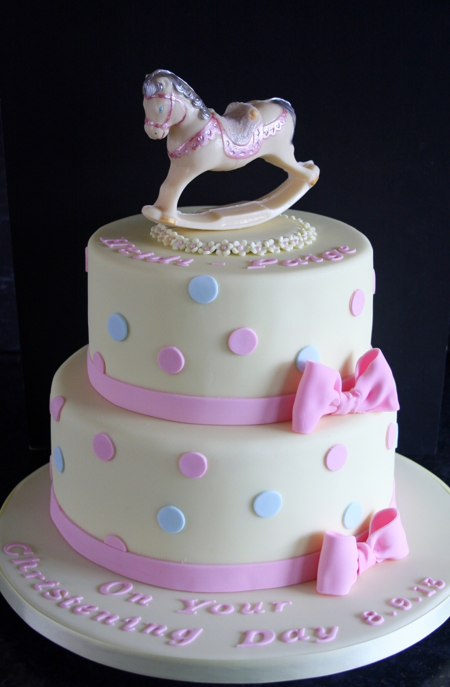 Christening Cake Rocking Horse Chocolate on Cake Central