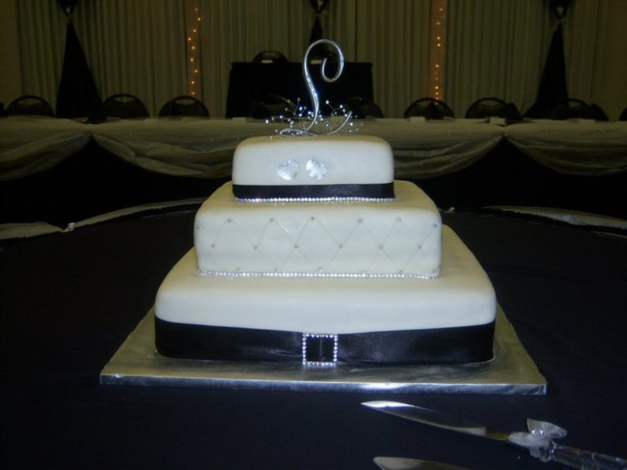 Bling Black And White on Cake Central