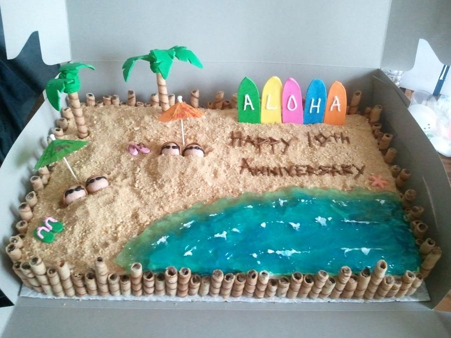 Hawaiian Wedding Cake Decorations