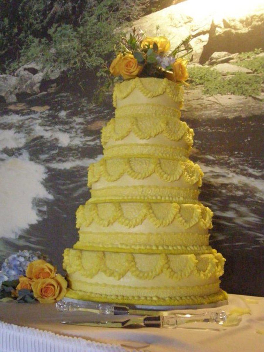 Yellow Wedding Cake - CakeCentral.com