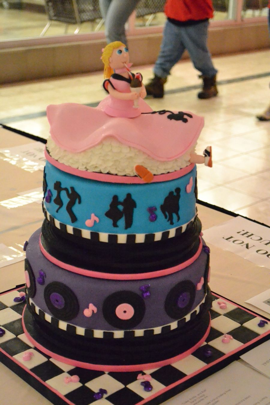 """""""cake, Rattle, And Roll""""- 1950's Music Cake - CakeCentral com"""