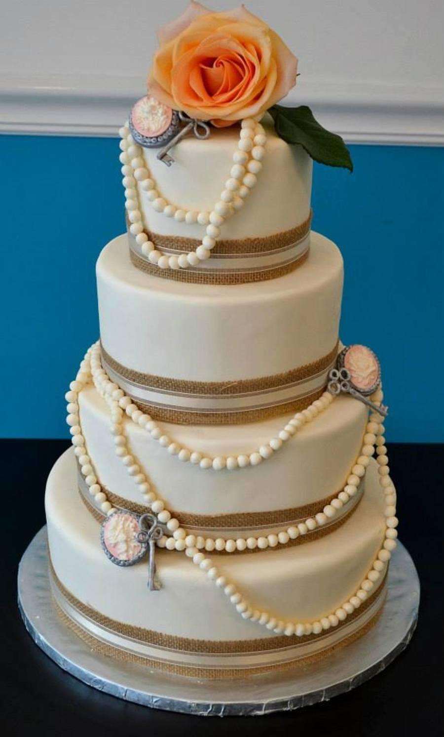 Rustic Elegance Wedding Cake Cakecentral Com