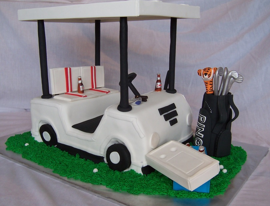 Golf Cart Cake - CakeCentral.com Leprechaun In A Golf Cart on maleficent golf cart, unicorn golf cart, ghostbusters golf cart, predator golf cart, gnome golf cart,