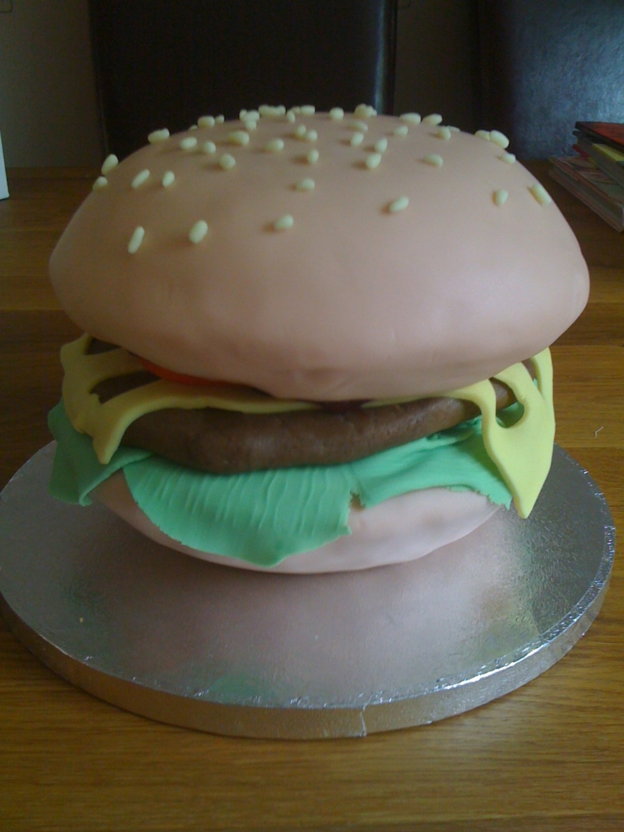 Burger on Cake Central