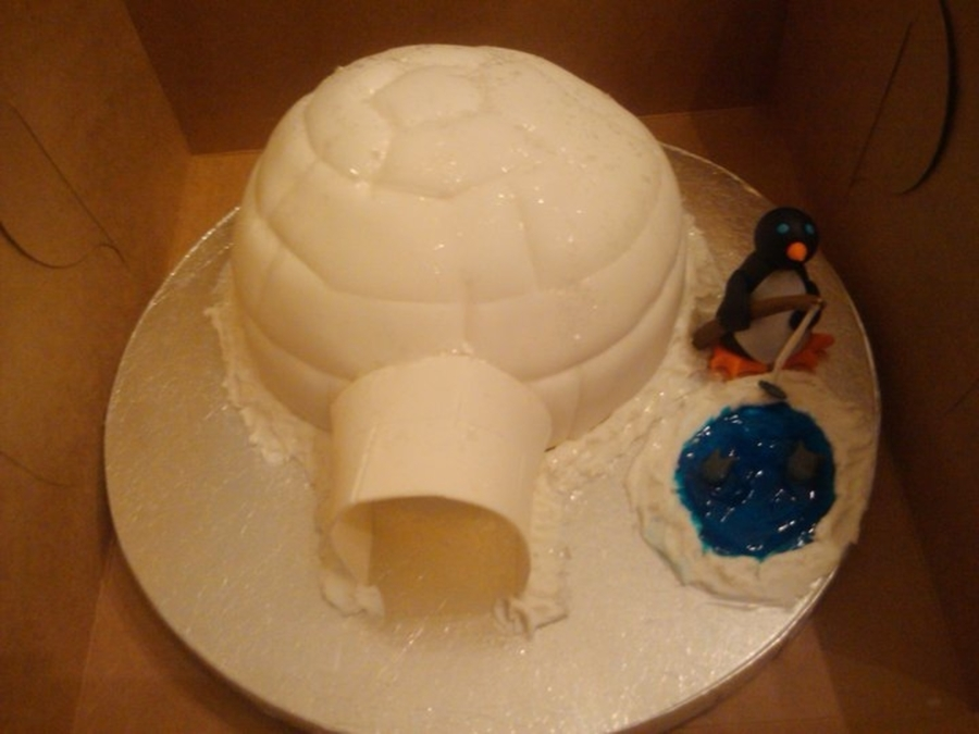 Igloo Cake  on Cake Central