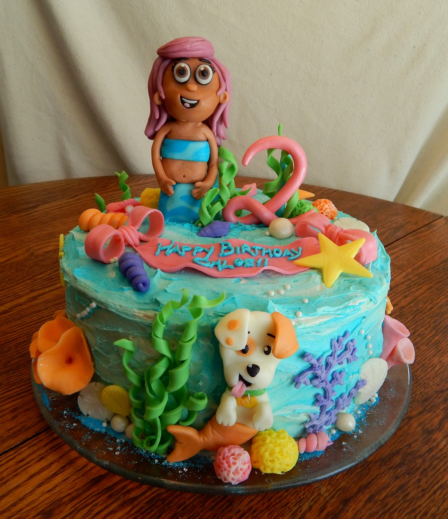 Stupendous Bubble Guppies Cake Cakecentral Com Birthday Cards Printable Trancafe Filternl