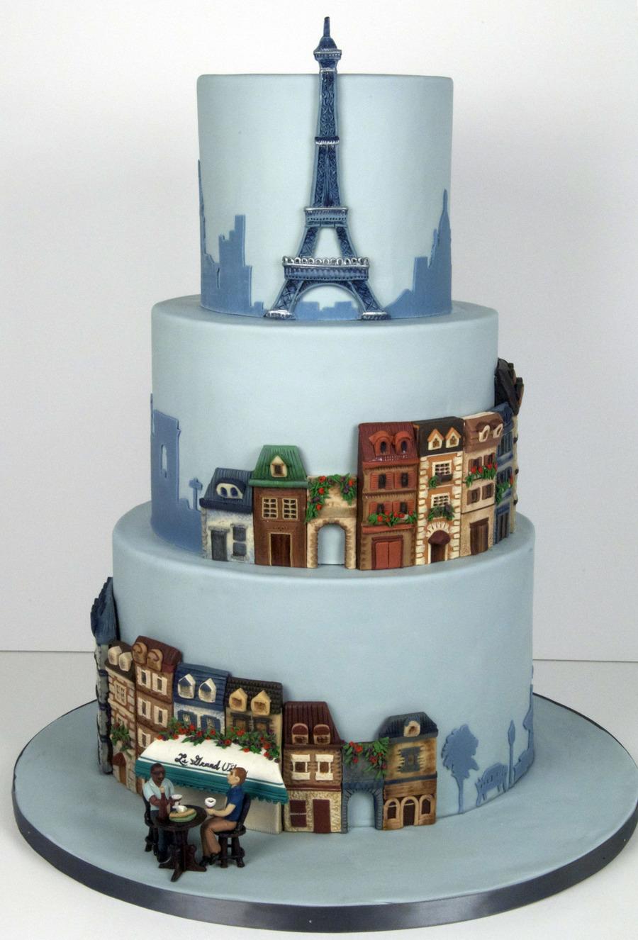 Paris Themed Wedding Cake Cakecentral Com