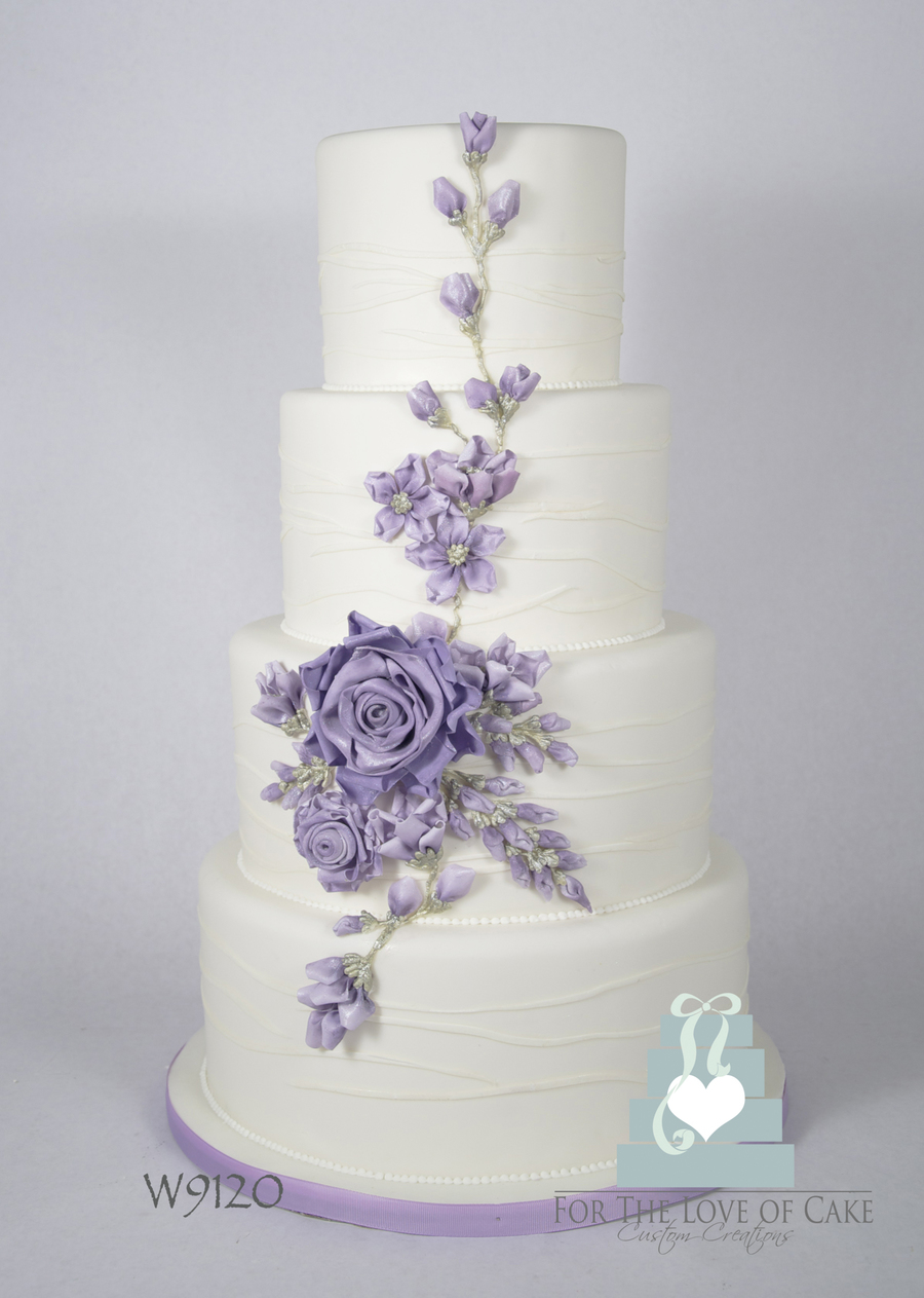 Ribbon Flower Wedding Cake on Cake Central