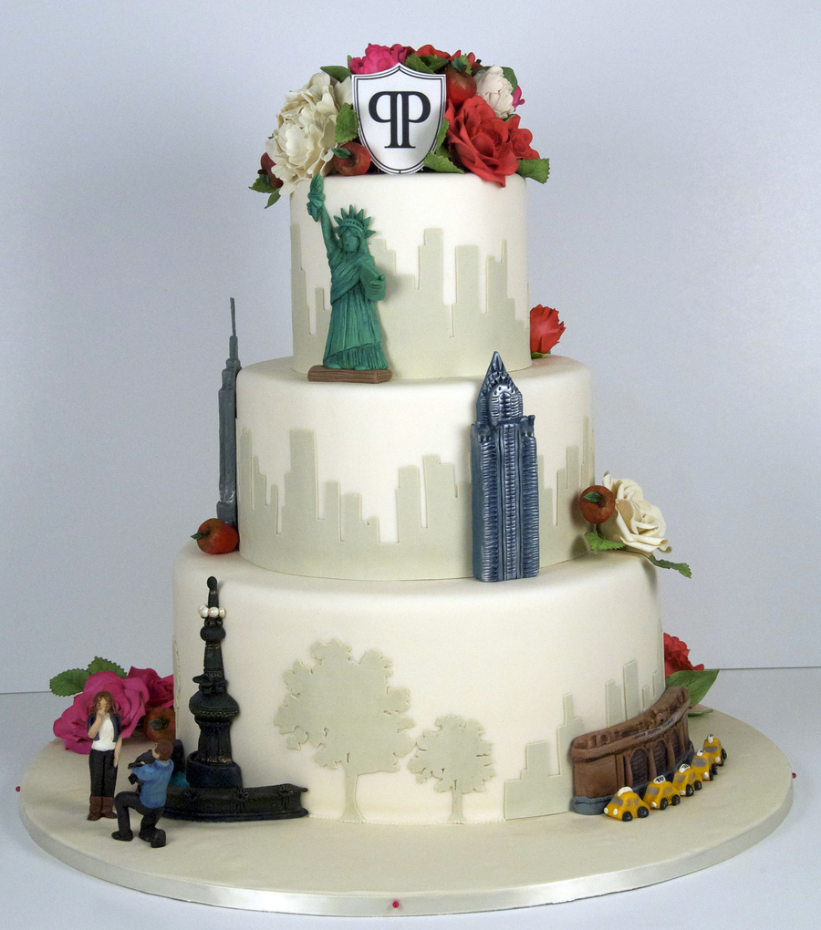 wedding cakes nyc nyc skyline wedding cake cakecentral 8906
