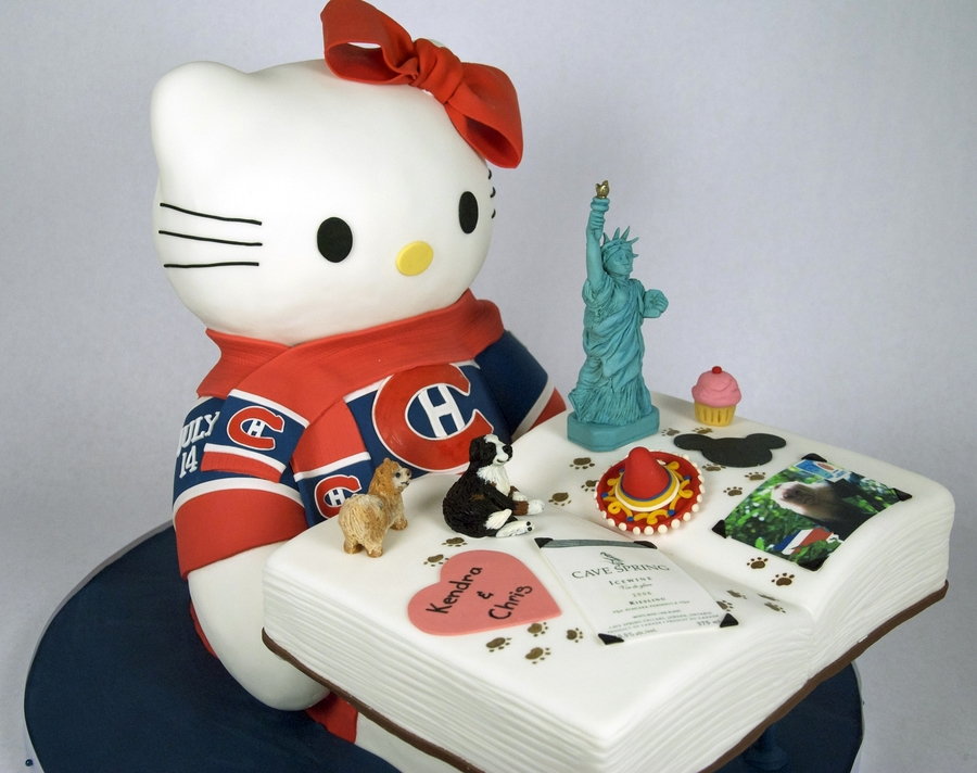 3D Hello Kitty & Scrapbook Cake on Cake Central