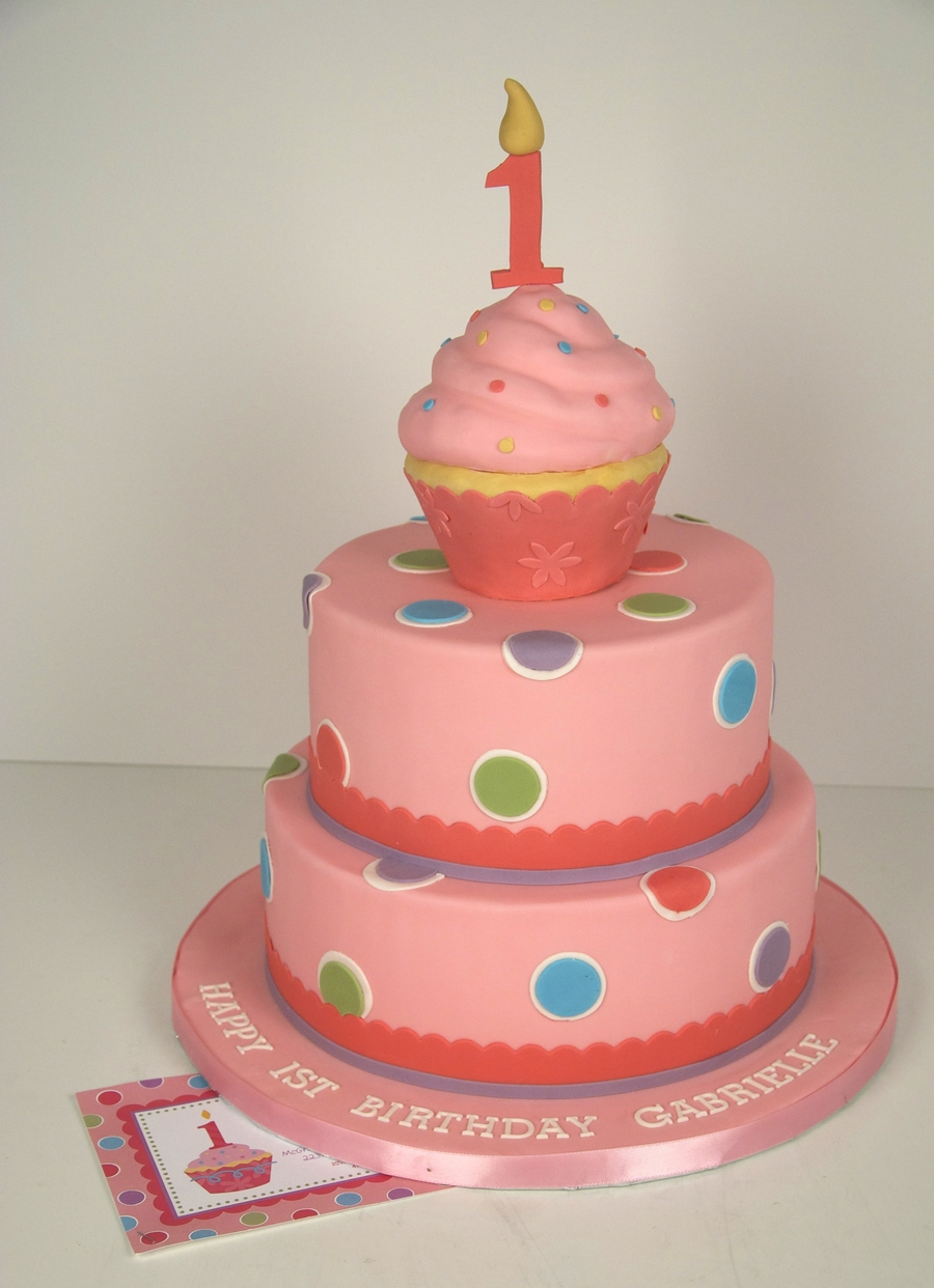 Pink Cupcake Birthday Cake on Cake Central