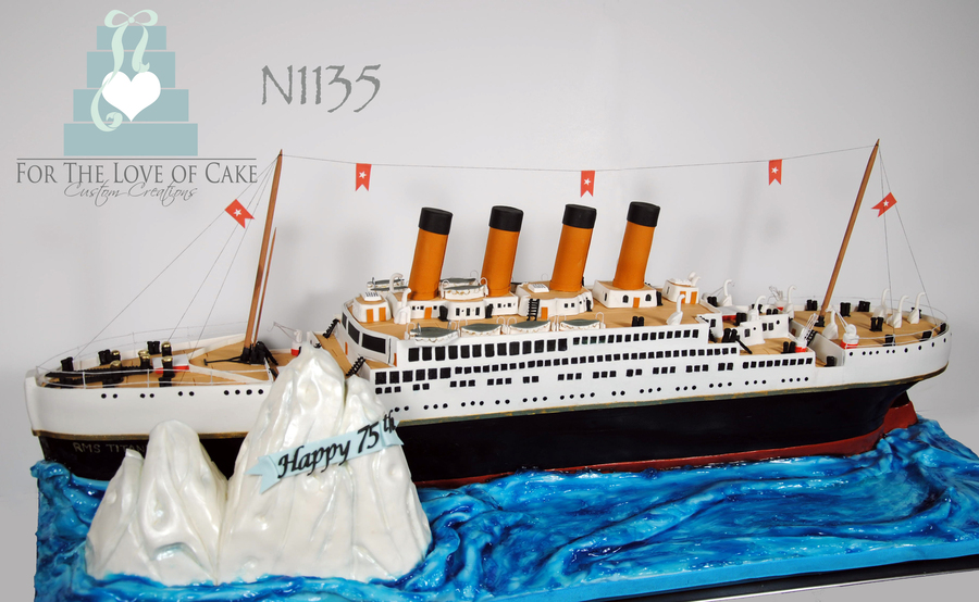 75Th Birthday - 3D Titanic Cake on Cake Central
