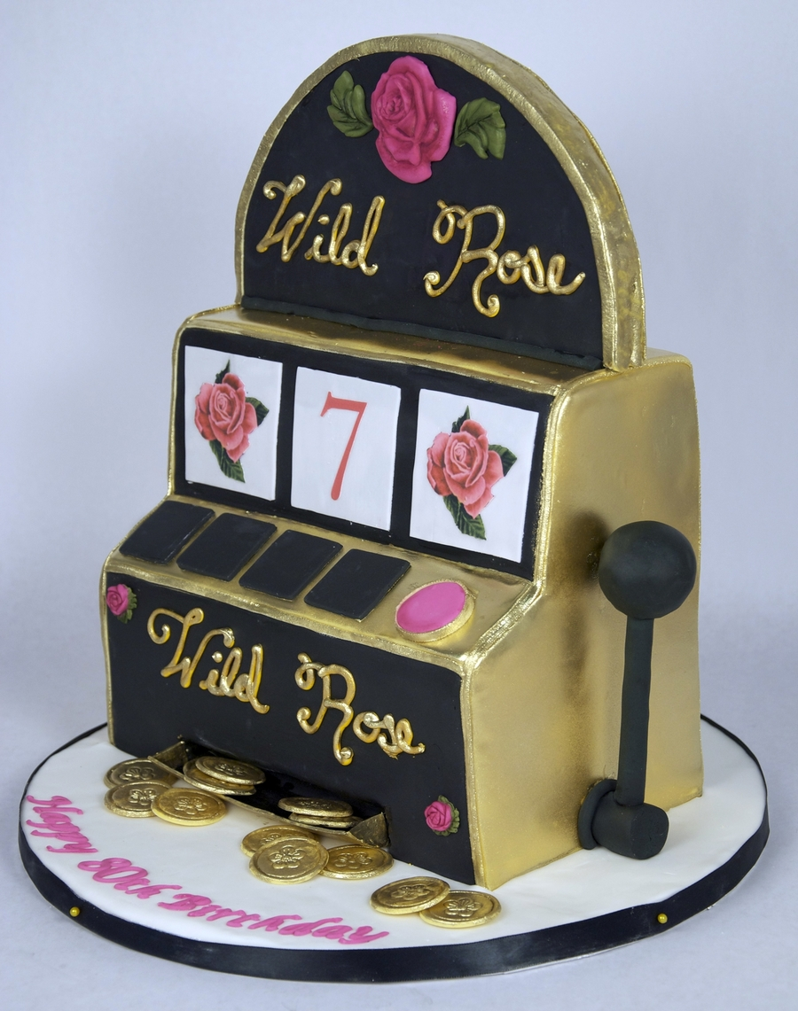 Wild Rose Slot Machine Cake on Cake Central