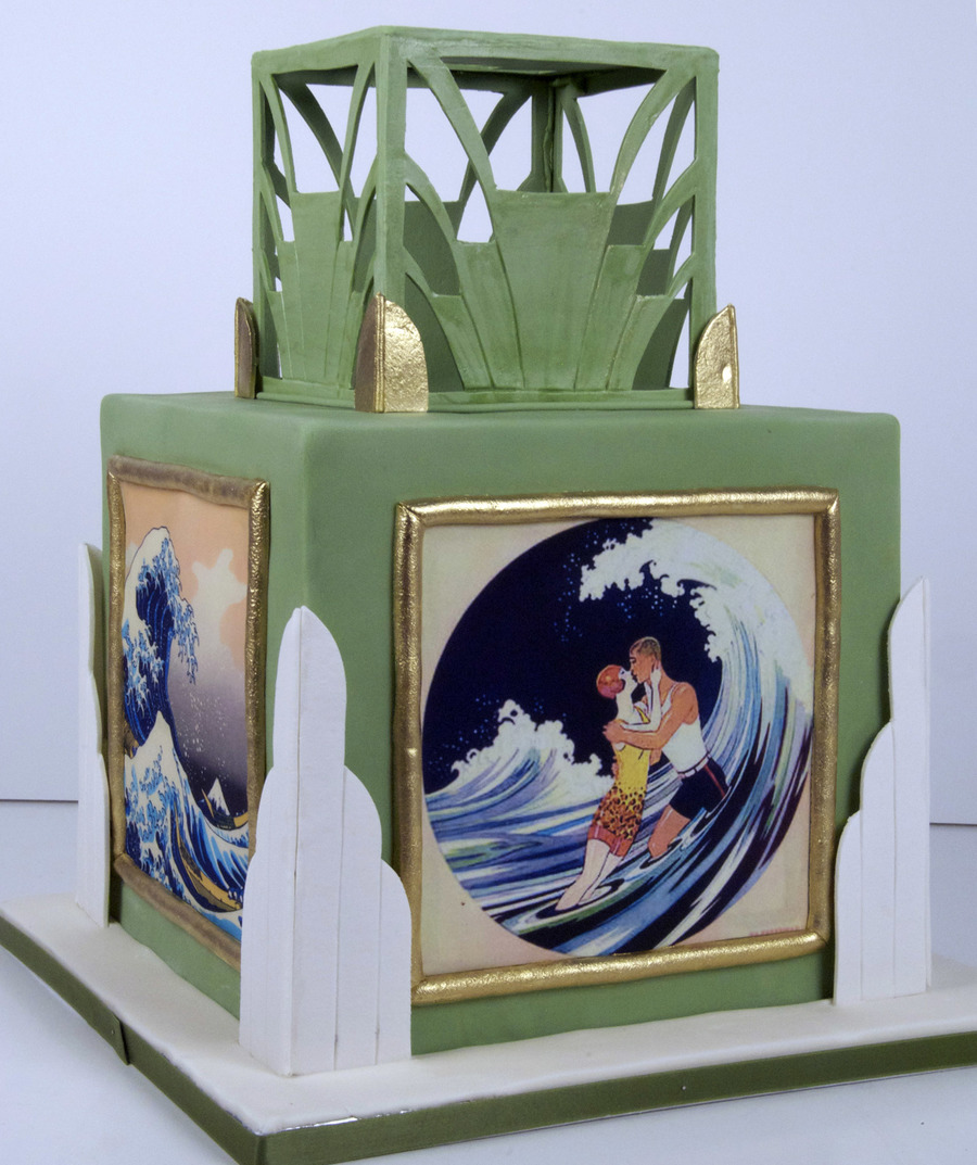 Art Deco Engagement Cake on Cake Central