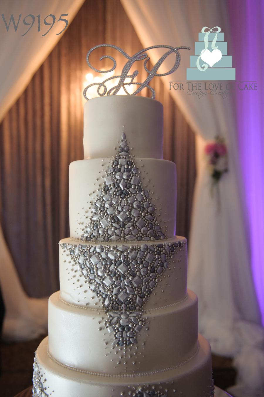 Jewelled Wedding Cake CakeCentralcom