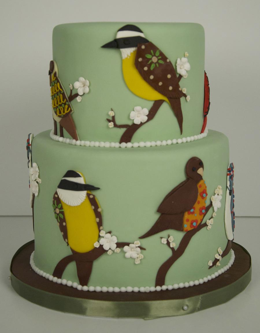 80Th Birthday Bird Cake - CakeCentral.com