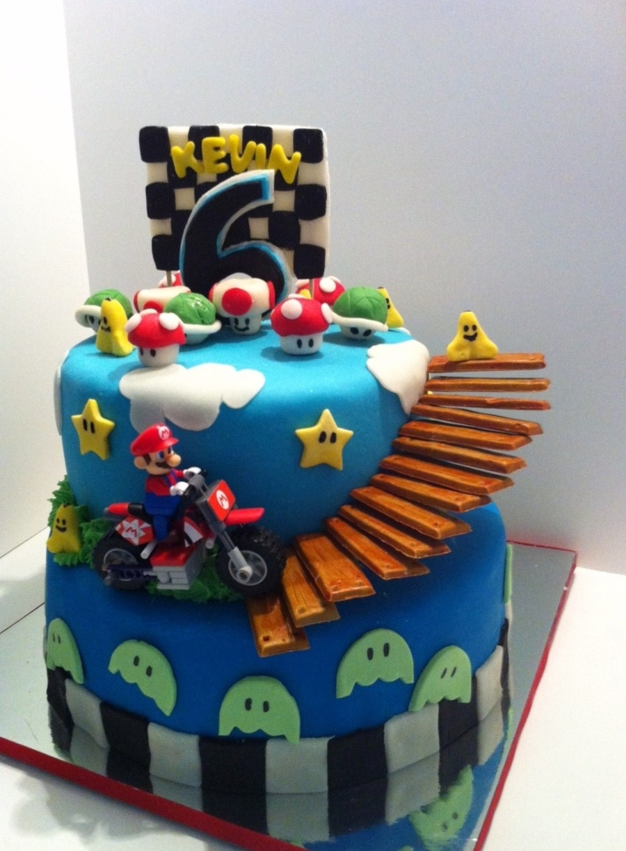 Swell Mario Kart Birthday Cake Cakecentral Com Personalised Birthday Cards Sponlily Jamesorg