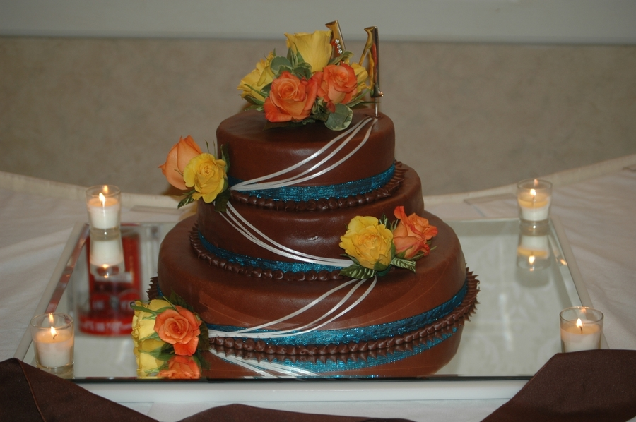 Chocolate Mmf Wedding Cake on Cake Central