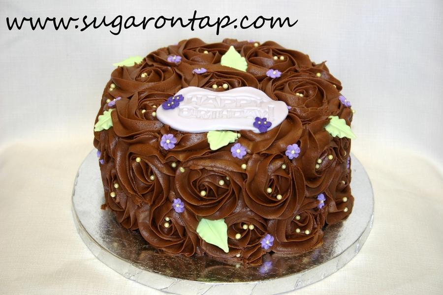 Chocolate Rosette Cake Cakecentral Com