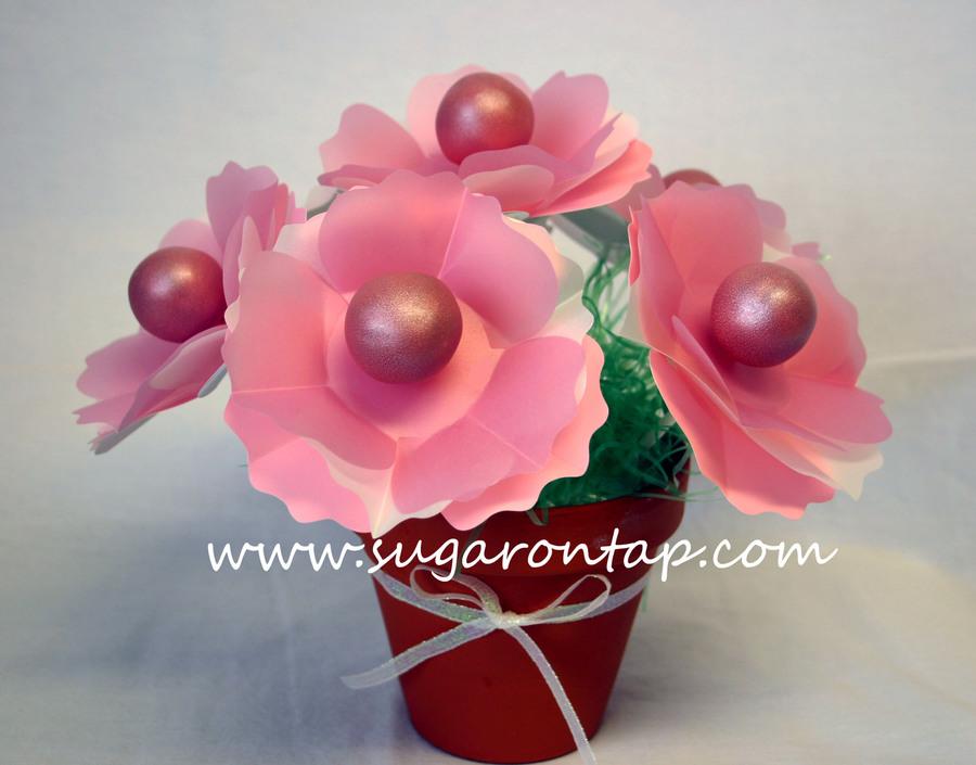 Flower Pot Cake Pops - CakeCentral.com