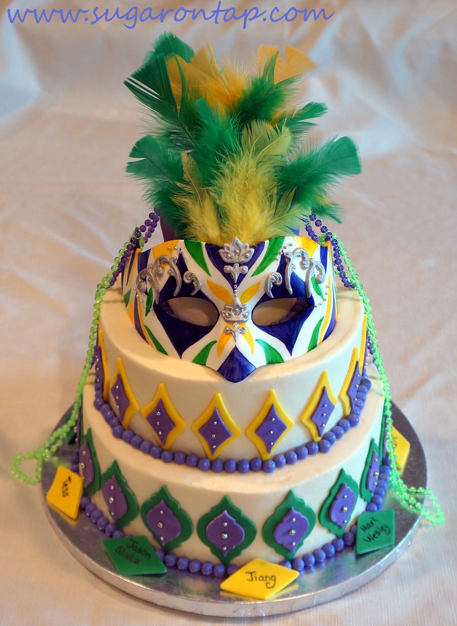 Mardi Gras Cake Cakecentral