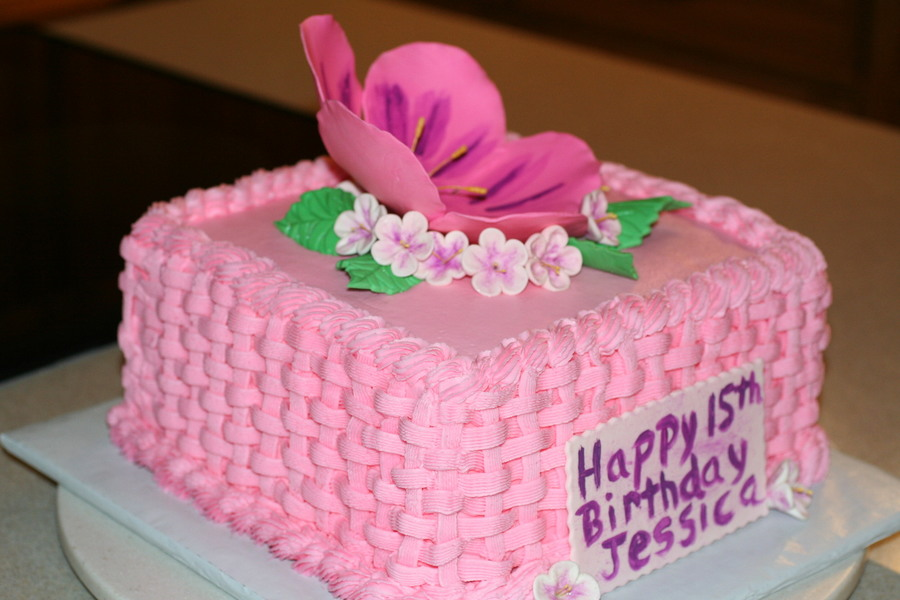 Cherry Blossom Birthday Cake on Cake Central