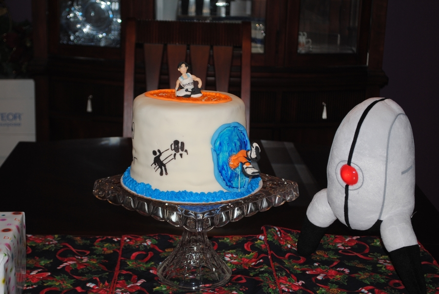 Magnificent Portal 2 Birthday Cake Cakecentral Com Personalised Birthday Cards Veneteletsinfo