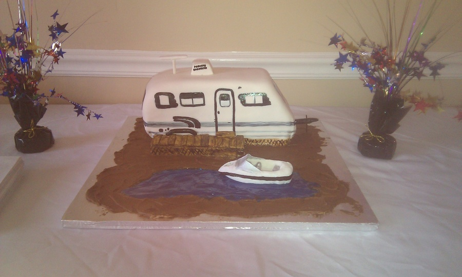 Camping By The River on Cake Central