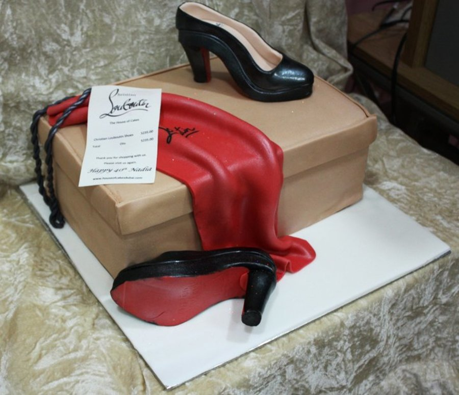 Christian Louboutin Shoes Cake on Cake Central