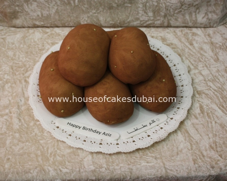 Potato Shaped Cake on Cake Central