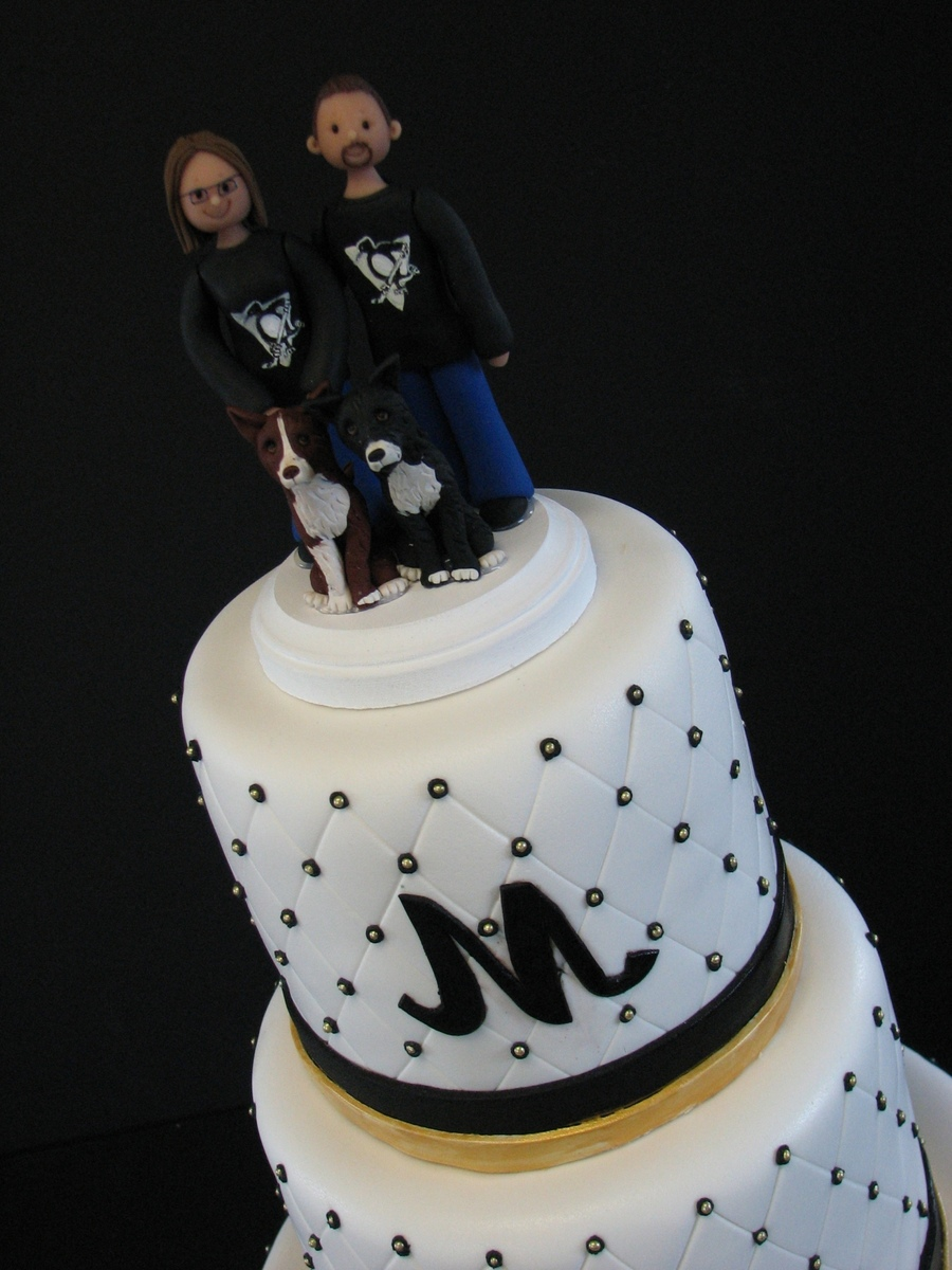 wedding cakes pittsburgh pittsburgh penguins themed wedding cake cakecentral 25287