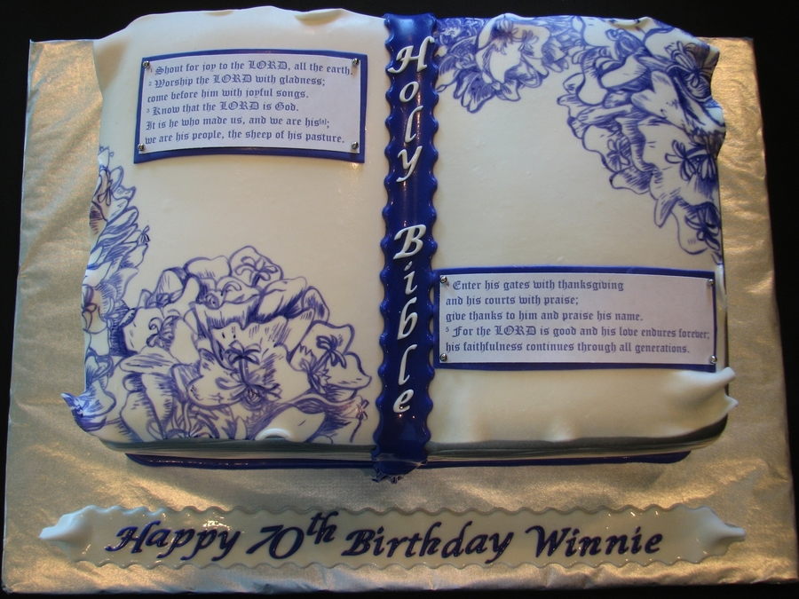 Phenomenal Holy Bible Cake Cakecentral Com Personalised Birthday Cards Paralily Jamesorg