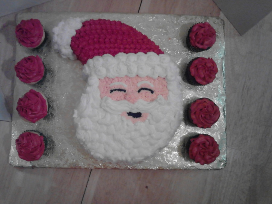 Karens Santa Face Cake on Cake Central
