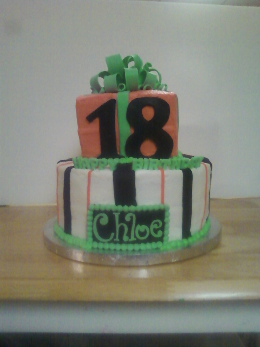18Th Birthday Cake  on Cake Central