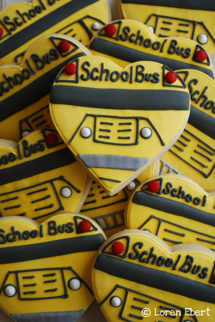 School Bus Cookies! on Cake Central