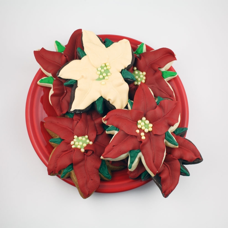 Poinsettia Cookie on Cake Central