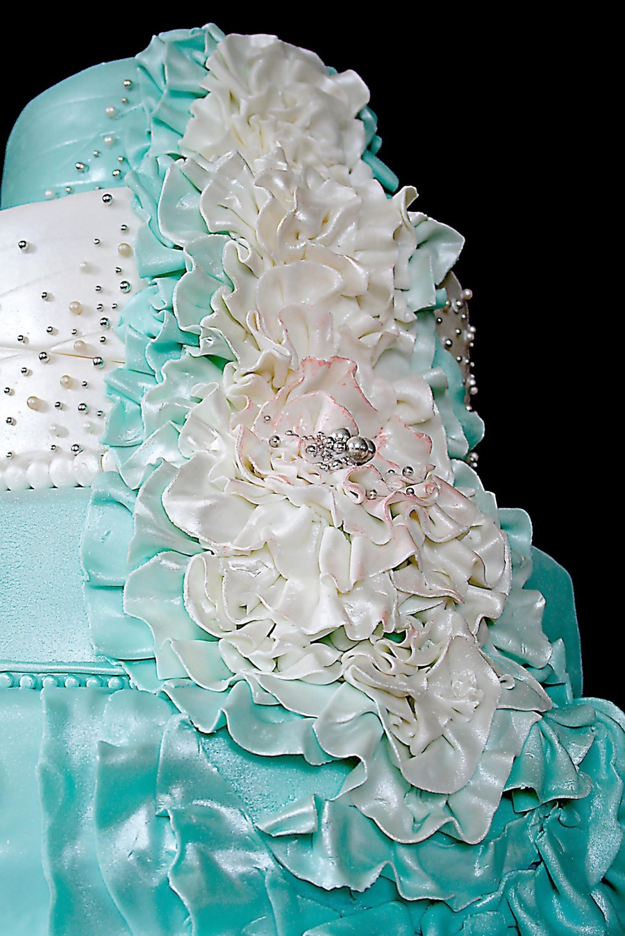 tiffany blue and silver wedding cakes. Black Bedroom Furniture Sets. Home Design Ideas