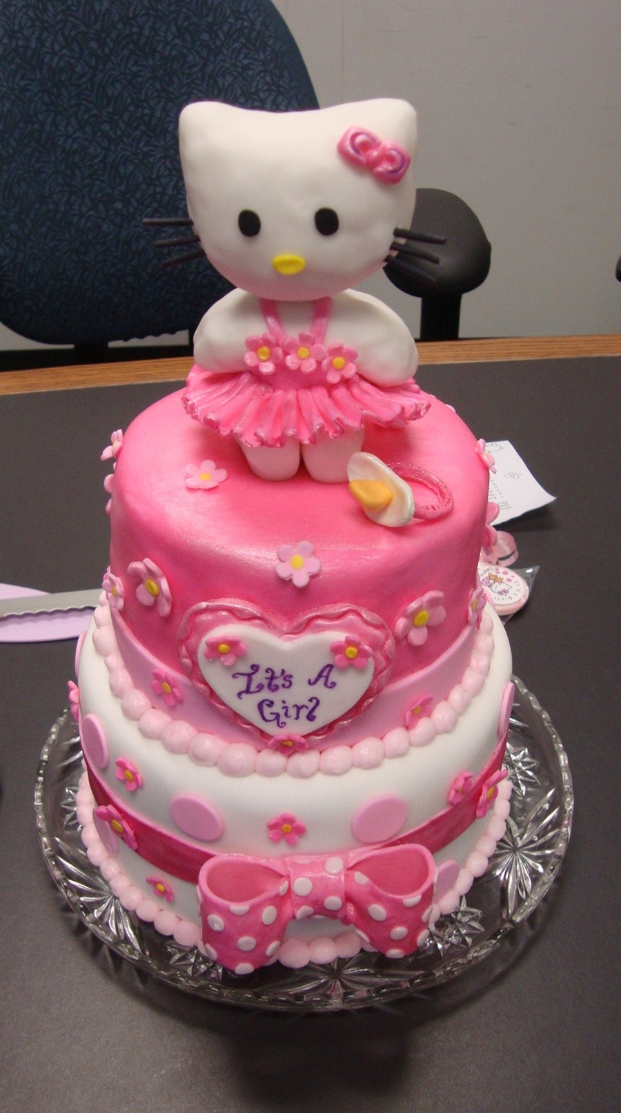 Hello Kitty Baby Shower Pink Birthday Cakecentral Com