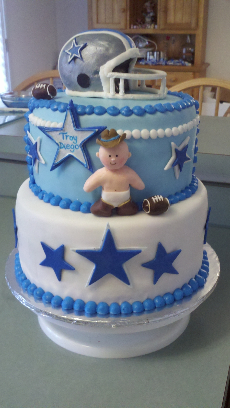 Dallas Cowboys Baby Shower CakeCentralcom