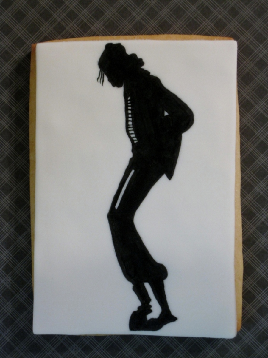 Michael Jackson Silhouette Cookie on Cake Central