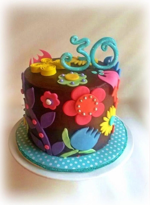 Summer Flower Birthday Cake CakeCentralcom
