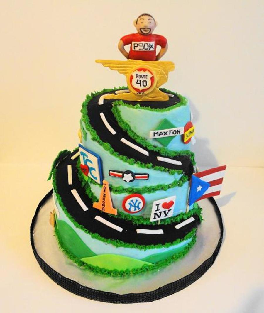40Th Birthdayfirst Marathon Cake For Man CakeCentralcom