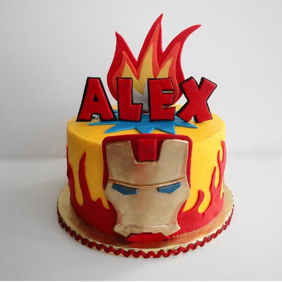 Iron Man Edible Cake Images