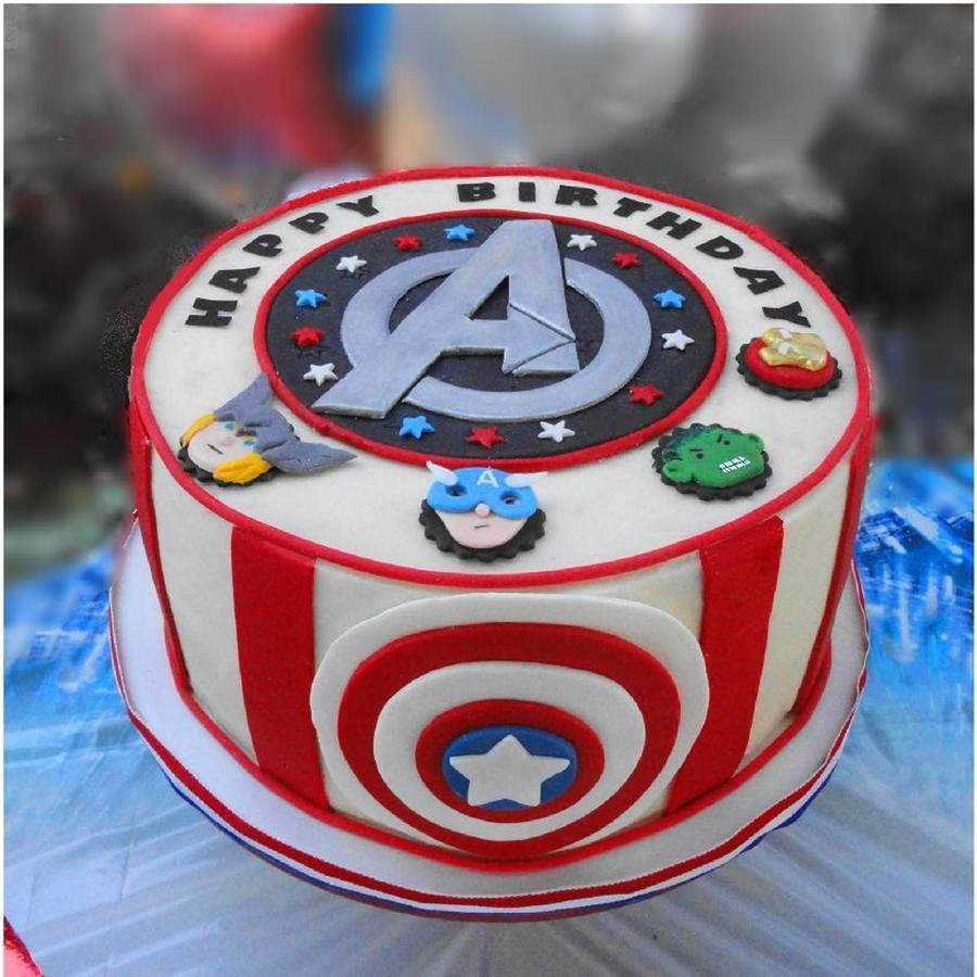 Avenger Theme Cake Cakecentral Com