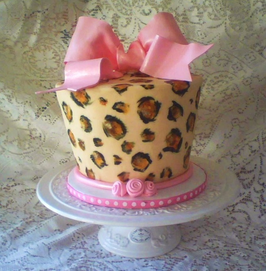 Birthday Cake Pictures To Print : Leopard Print Birthday Cake For Friend. - CakeCentral.com
