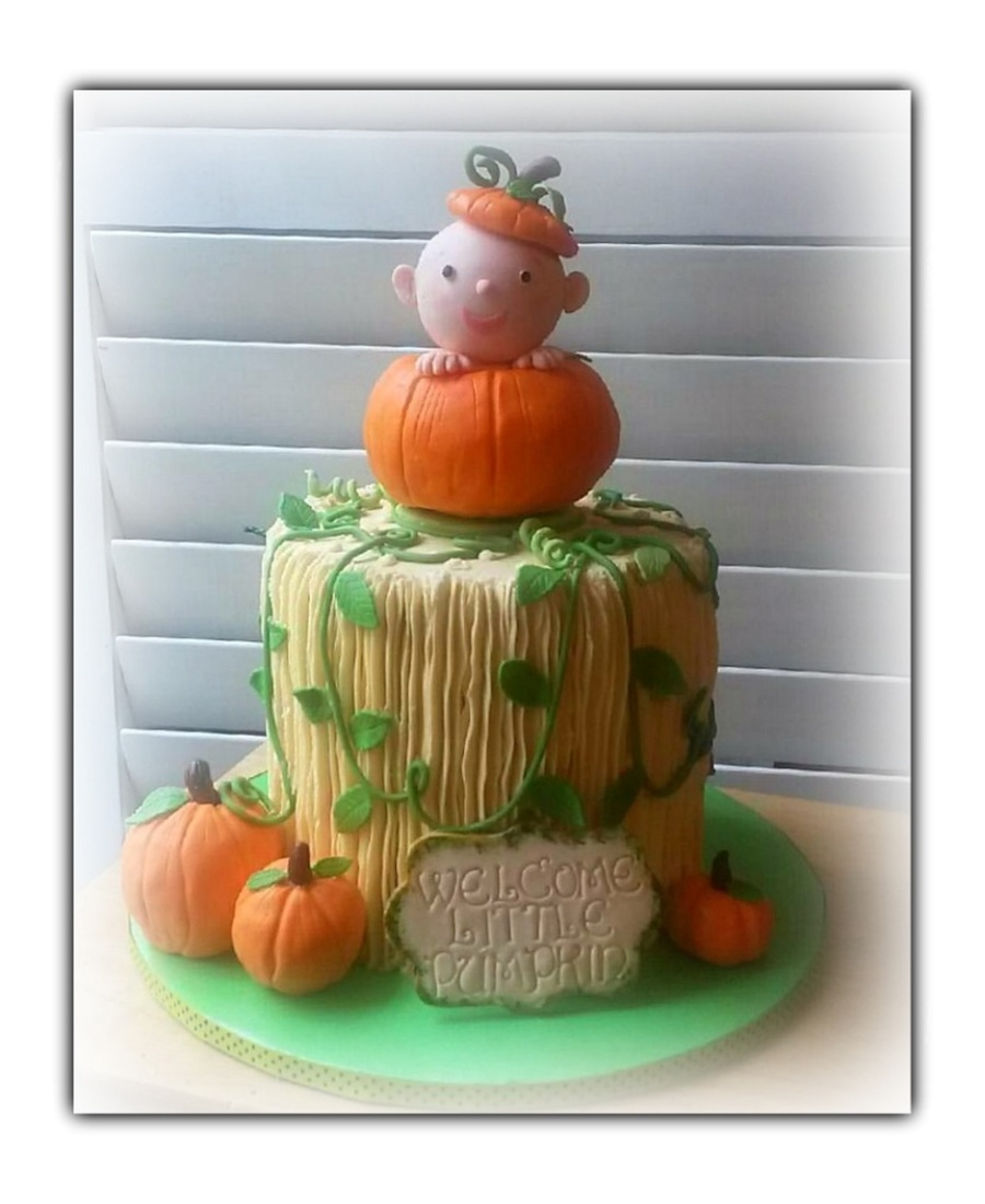 Attractive Little Pumpkin Baby Shower Cake On Cake Central